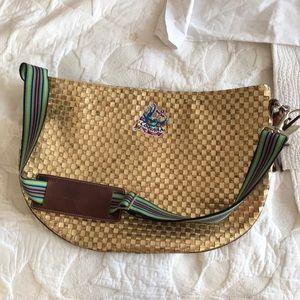 Handbags - Consuela Gold Weave Messenger Bag